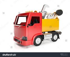 3 D Illustration Transport Technology Truck Box Stock Illustration ...