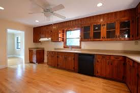 Furniture Cool Pine Kitchen Cabinet The Exoticism Knotty