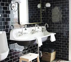 black subway tile on repeat and floor to ceiling home