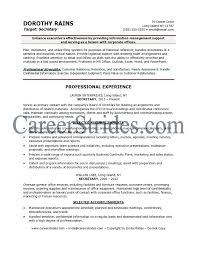 Secretary Resume Sample Example