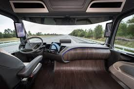 100 Semi Truck Interior MercedesBenz Future 2025 Concept Two Tablets Serve