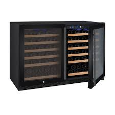 Wine Enthusiast Silent 48 Bottle Double Door Dual Zone Wine