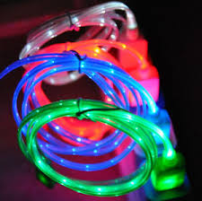 LED light up charger cable FOR apple iPhone 6 6S 5S 5C 4 galaxy s6