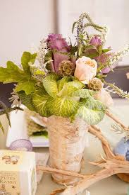Pretty Floral Table Centerpieces For A Botanical Baby Shower Or Birthday Party