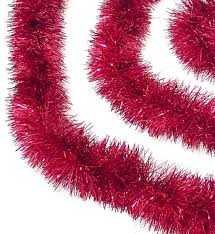 Unlit Christmas Tree by 12 U0027 Soft And Sassy Red Christmas Tinsel Garland Unlit