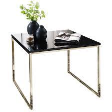 couchtisch riva 60x50x60 cm metall holz sofatisch schwarz gold design wohnzimmertisch quadratisch stubentisch mit metallgestell kaffeetisch