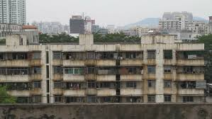Broken Down Chinese Apartment Building Stock Footage Video 2149184