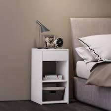 vcm nachttisch nachtschrank beistelltisch nacht kommode boxspringbett hoher hoch konsole sledo maxi weiß