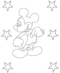 Mickey Mouse Cartoon Characters Coloring Pages