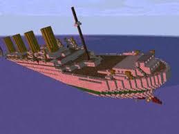 minecraft animation sinking of the britannic youtube