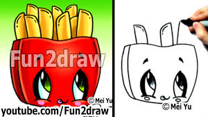 Kawaii Tutorial How to Draw Kawaii Food Fries Cute Easy Drawing Cute Art Fun2draw