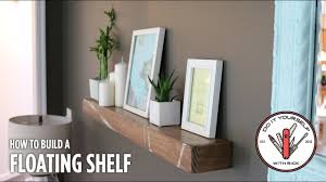 Build A Rustic Floating Shelf