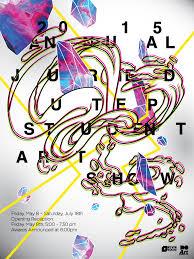 Student Art Show Poster Graphic Design