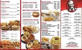 KFC Menu Items and Coupons