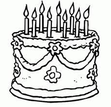 How Do You Draw A Birthday Cake Birthday Cake Printable Coloring Drawing Free Wallpaper Anggela
