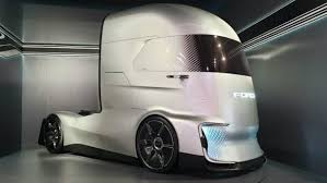 100 Concept Semi Trucks Ford FVision Offers A Look At The Selfdriving Semi Of The Future
