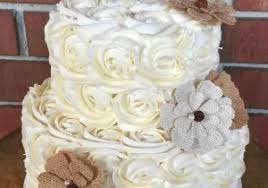 This Homemade Buttercream How Two Tier Rustic Wedding