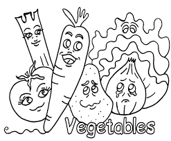Elegant Coloring Pictures Of Vegetables 55 In Free Book With
