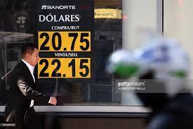 bureau de change dollar a currency board shows the us dollar exchange rate at a bureau de