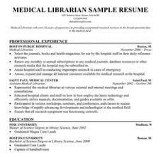 Sample Resume For Librarian Job
