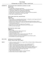 Desk Receptionist Resume Samples | Velvet Jobs Downloadfront Office Receptionist Resume Samples Velvet Jobs Dental Sample Summary For Medical Skills Duties 20 Tips Front Desk Job Description Examples Best Monstercom Salon Manager Template Resume Vector Icons Hotel Writing Guide 12 Templates 20 Cover Letter Receptionist Cover Skills At