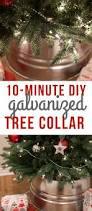 Seashell Christmas Tree Skirt by 10 Minute Diy Galvanized Christmas Tree Collar Tutorial Tree