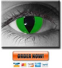 Prescription Halloween Contacts Ireland by Cat Eye Contacts Yellow Green Red Blue