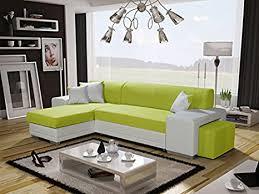 verani modern grün große sitzecke mit bettkasten pouf polsterhocker fußhocker stoff kunstleder wohnzimmer möbel sofas sofas
