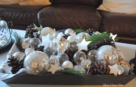 Pine Cone Christmas Tree Centerpiece by Decorations Simple Christmas Coffee Table Decoration Alongside