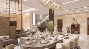 luxus esszimmer interieur design im modernen stil für die