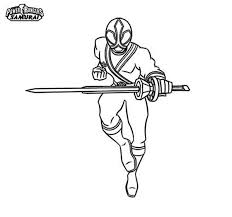 Power Rangers Samurai Coloring Page PageFull Size Image