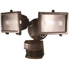 Heath Zenith Bronze Metal Security Light Motion Sensing Quartz