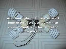 diy how to make a cheap cfl 800w compact flourecent grow light