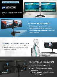 Dual Monitor Standing Desk Attachment by Amazon Com Mount It Dual Monitor Desk Stand Lcd Mount
