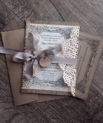 Rustic Gray Lace Wedding Invitation SAMPLE Invite And Shabby Chic Anna