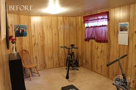 Bedroom Before And After Painted Wood Paneling