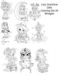 Lacy Sunshines Digital Instant Download Coloring Books And Sets