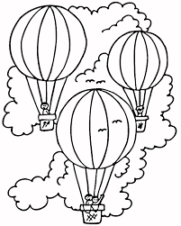 Luxury Hot Air Balloon Coloring Page 40 For Coloring For Kids With