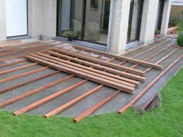 paysagiste ronchin 28 terrasse bois sur dalle béton