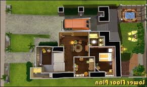 Sims 3 Big House Floor Plans by Home Design Modern House Plans Sims 3 Architects Electrical