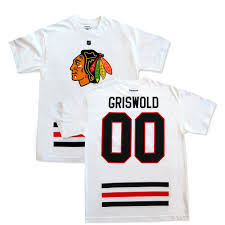 Griswold Christmas Tree Scene by Christmas Vacation Clark Griswold 00 Chicago Blackhawks Replica T