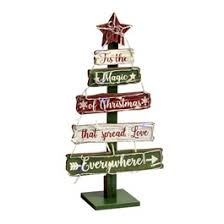 195 The Magic Of Christmas LED Tiered Wood Tree