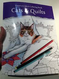 My First Published Work Cats Quilts Coloring Book Ink 85