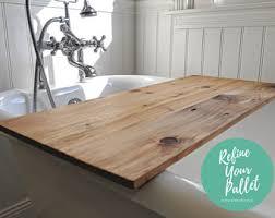 Teak Wood Bathtub Caddy by Bath Caddy Etsy