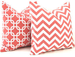 Decorative Couch Pillow Covers by Coral Pillows Decorative Throw Pillow Covers Chevron Pillows 20 X