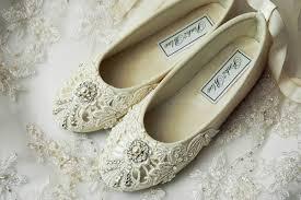 Flower Girl Shoes Ballet Flats Wedding Vintage