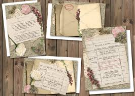 Library Card Wedding Invitation Book Theme Invite
