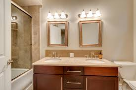 Modern Bathroom Vanity Sconces by Bathroom Brown Glacier Bay Vanity With Double Sink Vanity And