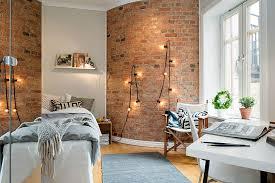 cosy decorating a brick wall bedroom ideas