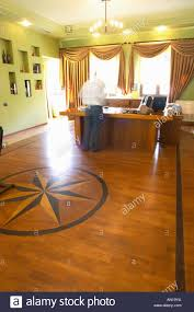 The Office Of Manager With Wood Parquet Floor Inlays In Star Shape General Opening Bottles To Taste